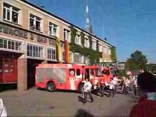 Feuerwehr Einsatz  n. Sieg des VfB Stuttgarts Meisterschaft