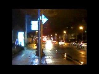 RTW DRK Stuttgart mit LED Blaulicht ©