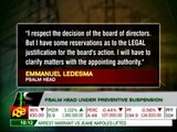 Why gov't suspended PSALM chief