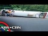 1 patay, 5 sugatan matapos tumagilid ang isang ambulansya