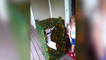 Soldier Dad Surprises Daughter in Huge Birthday Box