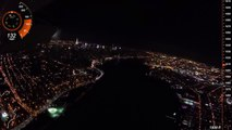 Night Flight Over New York City, Hudson River SFRA, East River over Central Park - HD