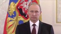 Poutine sans voix pendant un discours... Hilarant !