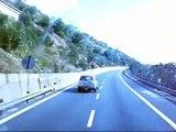 Frontera Francia-Italia por la autopista A8. Border France-Italy riding A8 motorway