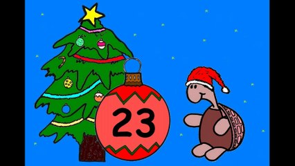 Mon calendrier de l'avent en ligne. J'attends Noël.  23 décembre