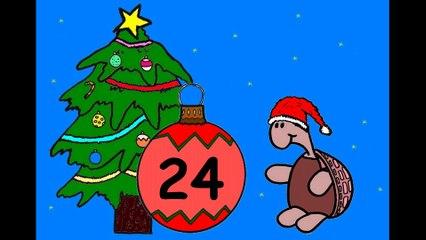 Mon calendrier de l'avent en ligne. J'attends Noël.  24 décembre