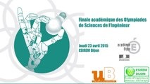Finale académique des Olympiades de Sciences de l'Ingénieur 2015