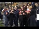 "Aversa (CE) - Scuola, ""selfie mob"" in piazza Vittorio Emanuele (06.05.15)"