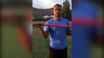 Olympian Bryan Clay uses javelin skills to pull daughters tooth
