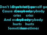 Everybody Hurts Lyrics On Screen by The Corrs