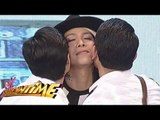 Vice got a kiss from JC and Gerald