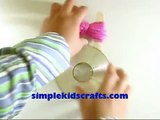 How to make pompom maker using a recycled CD and Popsicle sticks & pompom - EP