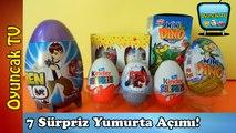 7 Sürpriz Yumurta! Örümcek Adam, Ben 10, Kinder Sürpriz, Mini Dino, Topi Sürpriz Yumurta Oyuncakları