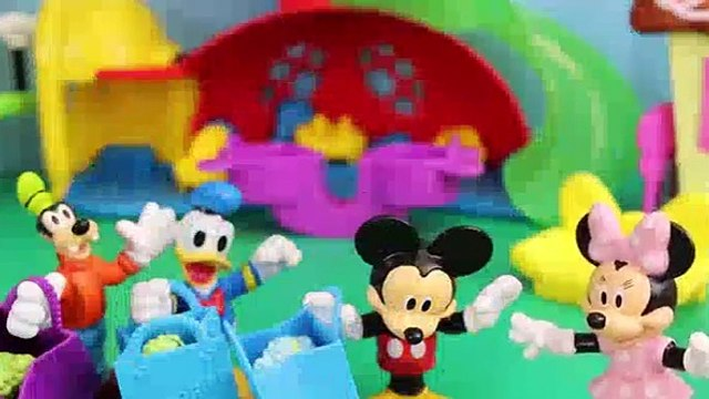 Mickey Mouse with Peppa Pig Shopkins Minnie Mouse Daddy Pig and Donald Duck in Hi Ho Cherry-o Ga