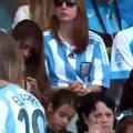 Thiago Messi supports his father Leo Messi on the World Cup.