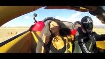 【一瞬です。放送事故? スーパーカーで揺れすぎて?】フェラーリ430スパイダーで激走したので:Hot girls ride in SuperCars !