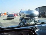 Blown 57 Chevy ride along when valve train lets go