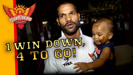 Rajasthan Royals defeated! Join the celebrations as Dhawan Junior gets his first face full of cake