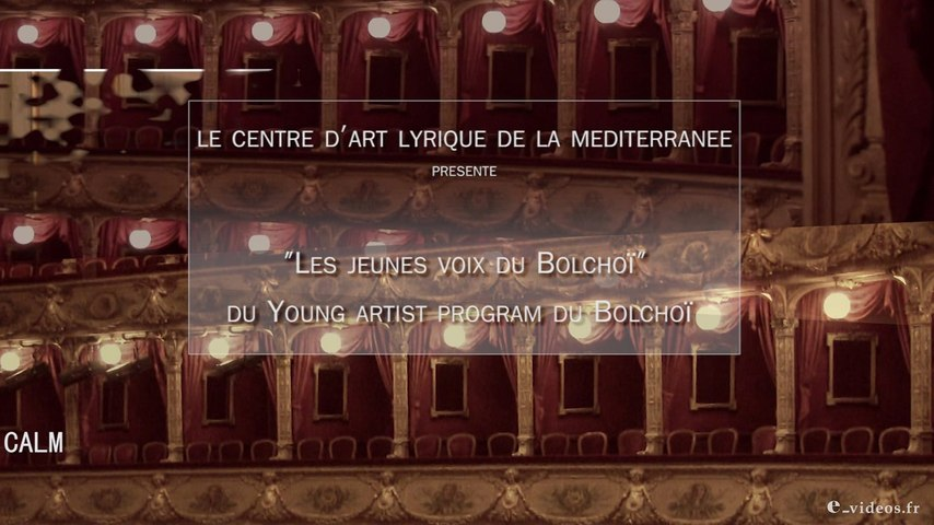 """Young artist program du Bolchoï"" et du CALM 2015"