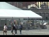 """Napoli - Il capannone """"mostro"""" di Piazza del Plebiscito (07.05.15)"""