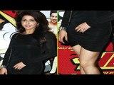 Hot Krishika Lulla Sexy Legs Show In Mini Black Dress