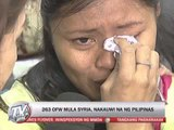 200 OFWs arrive from Syria