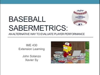 Sabermetrics Resource | Learn About, Share and Discuss