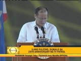 PNoy goes on scolding spree in TV Patrol party