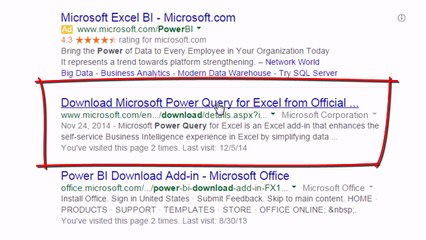 Download & Install Power Query