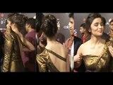 Hot Alia Bhatt in Sexy Golden Open Neck Gown Looking Hotter