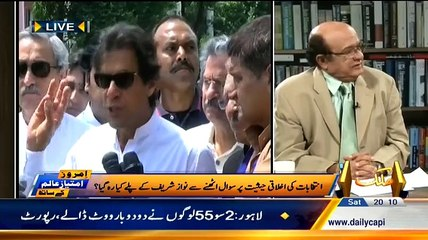 Today NADRA Report Clearly Shows NA-122 Is Also Rigged Imran Khan Was Right:- Imtiaz Alam