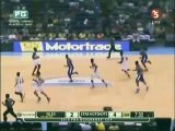 Marqus Blakely reaches from behind for the great block on Asi Taulava May 9,2015