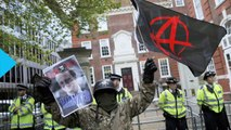 London Protesters Scuffle With Police at Anti-Cameron Rally
