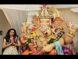Monica Bedi PERFORMS Puja at Andheri Cha Raja Ganpati pandal