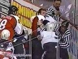 Eric Lindros vs Igor Ulanov Apr 27, 1996