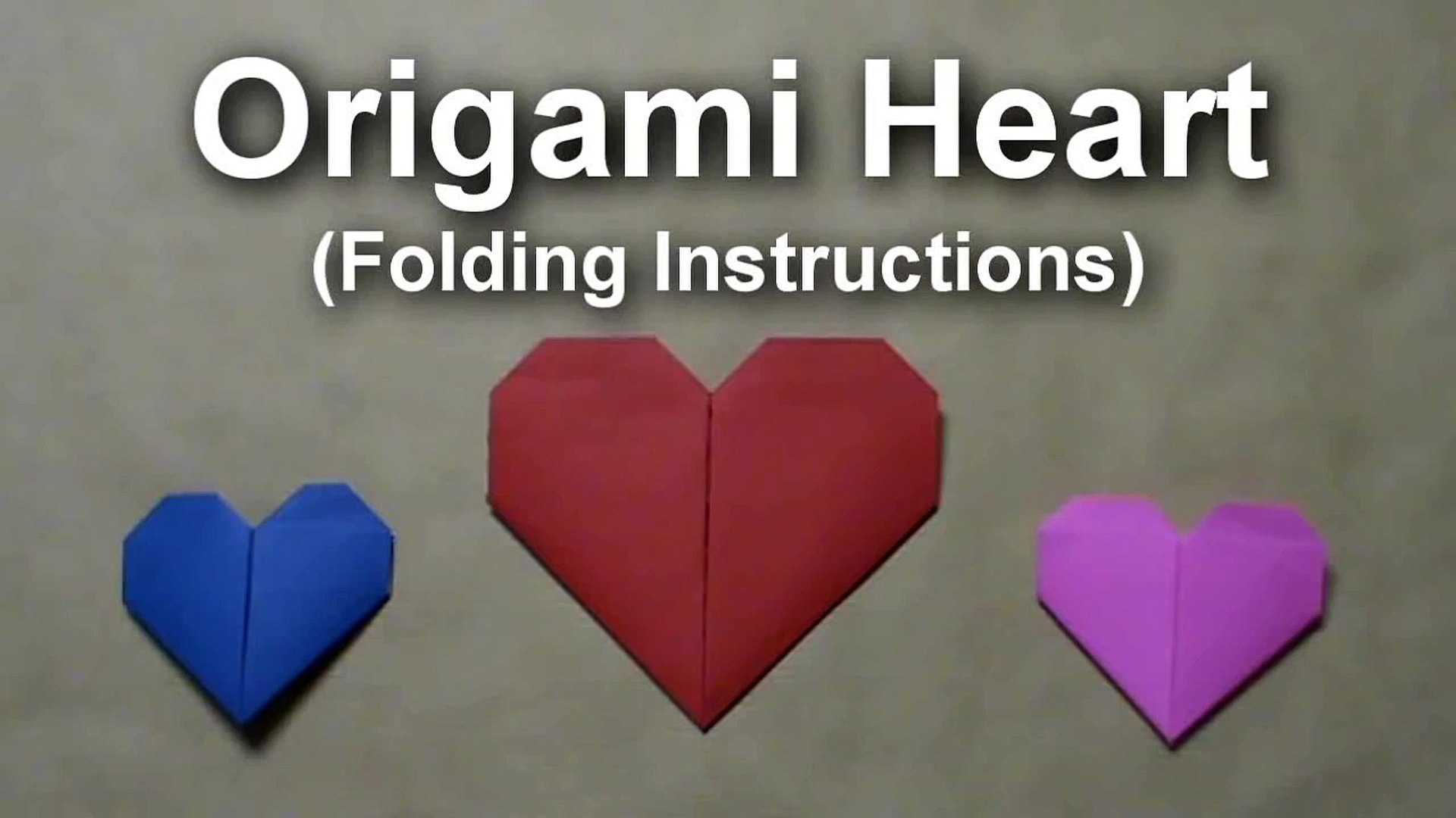 Origami Heart Check Folding Instructions | Origami Instruction | 1080x1920