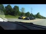 Une Lamborghini Gallardo se crashe à un carrefour