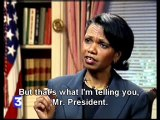 George W Bush vs Conoleeza Rice, Who is Hu?