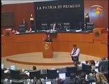 Humillación a la política en la cámara de senadores México 2014