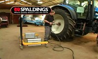 Spaldings Wheel Changer - Tractor Tyre Changing Video