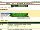 Searching for Name Authorities Using the Library of Congress Authorities Website