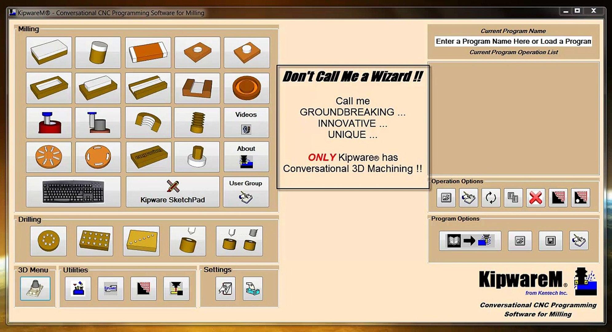 KipwareM® Conversational CNC Programming Software for 3D Machining