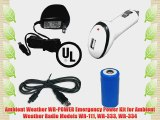 Ambient Weather WR-POWER Emergency Power Kit for Ambient Weather Radio Models WR-111 WR-333