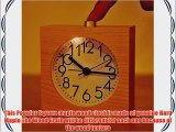 Best-mall Simple Novelty Mini Lounger Snooze Bedside Desktop Mute Maple Wood Alarm Clock With