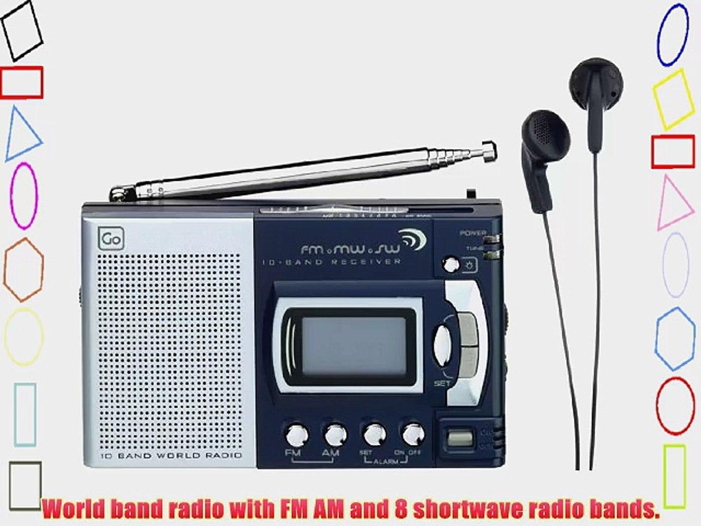 Design Go AM FM World Shortwave Radio 10 Band Receiver