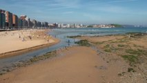 PAISAJE: Playa de San Lorenzo de Gijón, Asturias 10 Mayo