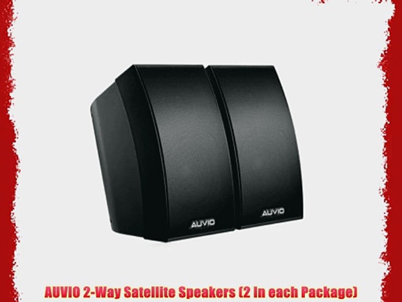 Auvio 2 Way Satellite Speakers 2 In Each Package