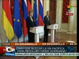 Putin y Merkel exponen sus posicionamientos sobre Ucrania