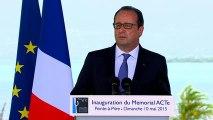 Discours lors de l'inauguration du Mémorial ACTe