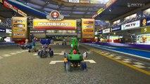 Wii U - Mario Kart 8 - Mario Kart Stadium (My First Race In Mario Kart 8)